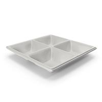 Porcelain 4 Compartment Bowl PNG & PSD Images