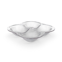 Crystal 4 Compartment Round Bowl PNG & PSD Images
