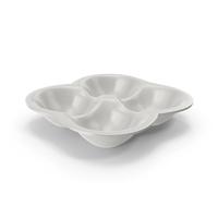 Porcelain 4 Compartment Round Bowl PNG & PSD Images