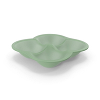 Plastic 4 Compartment Round Bowl PNG & PSD Images
