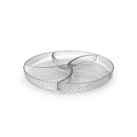 Crystal 5 Compartment Circle Bowl PNG & PSD Images