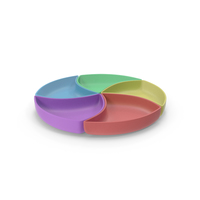 Plastic 5 Compartment Circle Bowl PNG & PSD Images