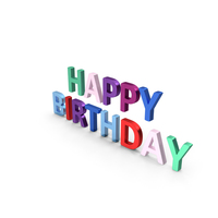 Happy Birthday Symbol Multicoloured PNG & PSD Images