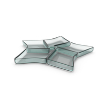 Glass 5 Compartment Star Bowl PNG & PSD Images