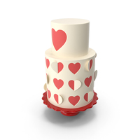 Heart Cut Out Cake PNG & PSD Images
