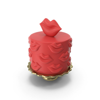 Red Fondant Cake PNG & PSD Images