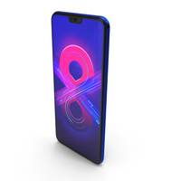 Honor 8X Blue PNG & PSD Images