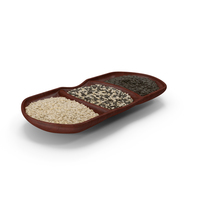 Small Compartment Bowl with Mixed Sesame Seeds PNG & PSD Images