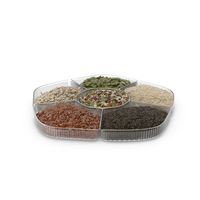 Compartment Bowl with Mixed Healthy Seeds PNG & PSD Images