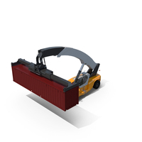 Reach Stacker and ISO Container PNG & PSD Images