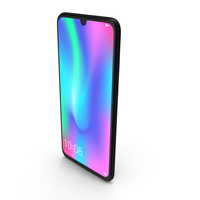 Honor 10 Lite Night Black PNG & PSD Images