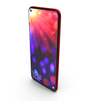 Honor View 20 Phantom Red PNG & PSD Images