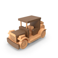Wooden Retro Car PNG & PSD Images