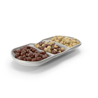 Compartment Bowl with Almond Chocolate Candy PNG & PSD Images