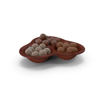 Compartment Bowl with Chocolate Balls PNG & PSD Images