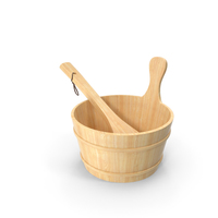 Sauna Bucket without Plastic Inside PNG & PSD Images