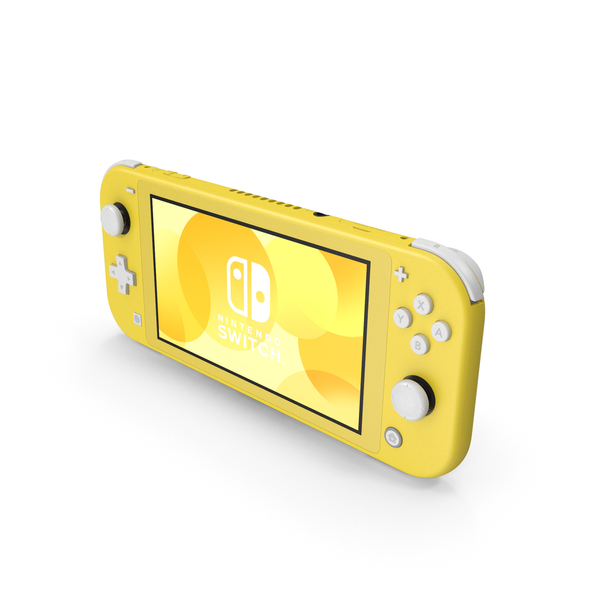 Nintendo Switch Lite Yellow PNG & PSD Images