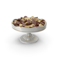 Fancy Porcelain Bowl with Mixed Chocolate Truffles PNG & PSD Images