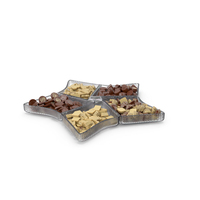 Star Compartment Bowl with Chocolate Truffles PNG & PSD Images
