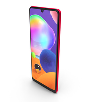 Samsung Galaxy A31 Red PNG & PSD Images