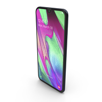 Samsung Galaxy A40 Black PNG & PSD Images