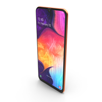 Samsung Galaxy A50 Coral PNG & PSD Images
