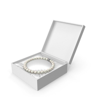 Pearls Bracelet In A White Gift Box PNG & PSD Images