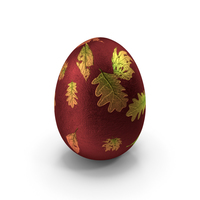 Easter Egg Design Leaves PNG & PSD Images