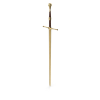 Sword Gold Brown Upright PNG & PSD Images