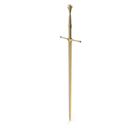 Sword Gold Upright PNG & PSD Images