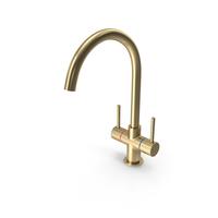 Gold Kitchen Faucet PNG & PSD Images