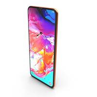 Samsung Galaxy A70 Coral PNG & PSD Images