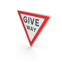 Road Sign Give Way Titled PNG & PSD Images