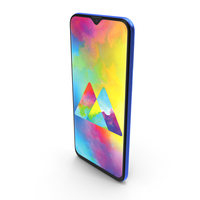 Samsung Galaxy M10 Ocean Blue PNG & PSD Images