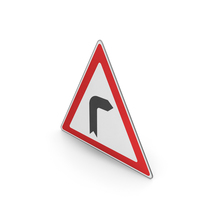 Road Sign Curve To The Right PNG & PSD Images