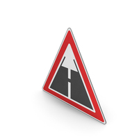 Road Sign End Of Paved Road Surface PNG & PSD Images