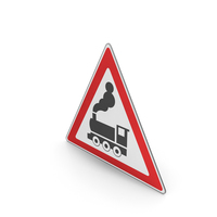 Road Sign Railway Crossing Ahead Without Gates Or Barriers PNG & PSD Images