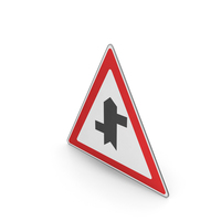 Road Sign Staggered Crossroads Ahead First Left PNG & PSD Images