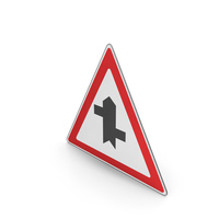 Road Sign Staggered Crossroads Ahead First Right PNG & PSD Images