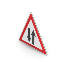 Road Sign Two-way Traffic Ahead PNG & PSD Images