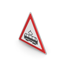 Road Sign Tram Crossing PNG & PSD Images