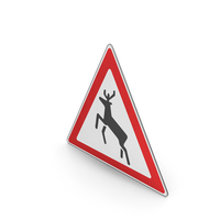 Road Sign Watch For Wild Animals PNG & PSD Images