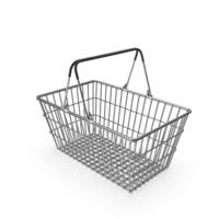 Supermarket Basket With Black Plastic PNG & PSD Images
