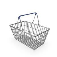 Supermarket Basket with Blue Plastic PNG & PSD Images
