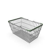 Supermarket Basket with Green Plastic PNG & PSD Images