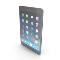 Apple iPad Mini 3 Space Gray/Black PNG & PSD Images