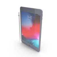 Apple iPad mini 2019 Space Gray with Pencil PNG & PSD Images