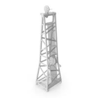 Crane D Head Section 8.5m White PNG & PSD Images