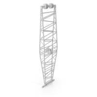 Crane Jib Mast White PNG & PSD Images