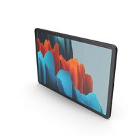 Samsung Galaxy Tab S7 Black PNG & PSD Images